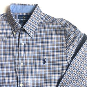 Ralph Lauren Long Sleeve Men Button Down Plaid M